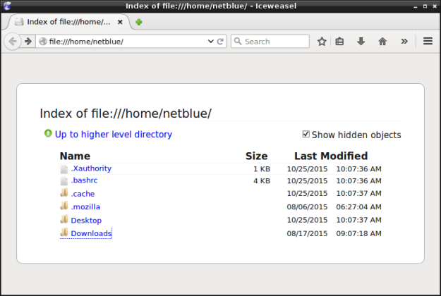 Whitelisting home files and directories for Firefox browser.