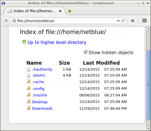 Whitelisted home directory in Mozilla Firefox